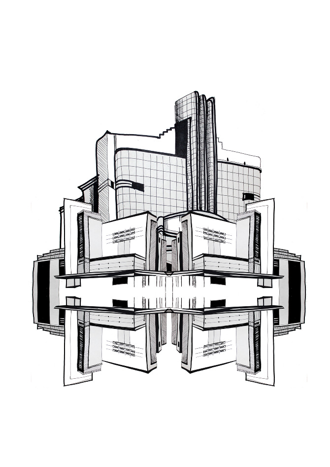 Futuristic Buildings Drawings Drawing And Digital