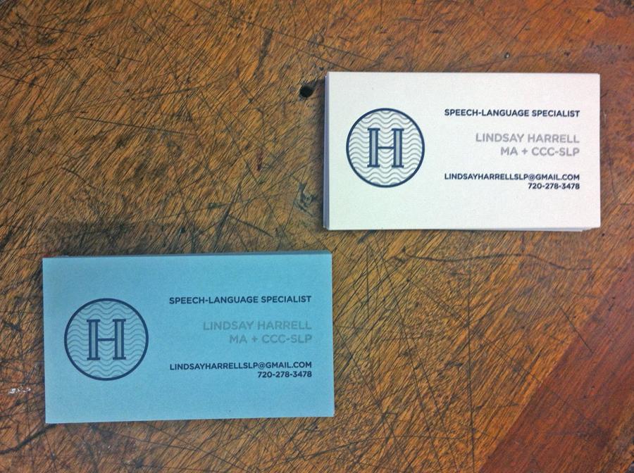 Harrell Speech Therapy Business Card - Shepherd Letterpress