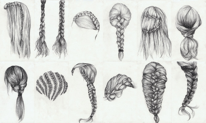 Braid Study (Ongoing) - Lauren Munns